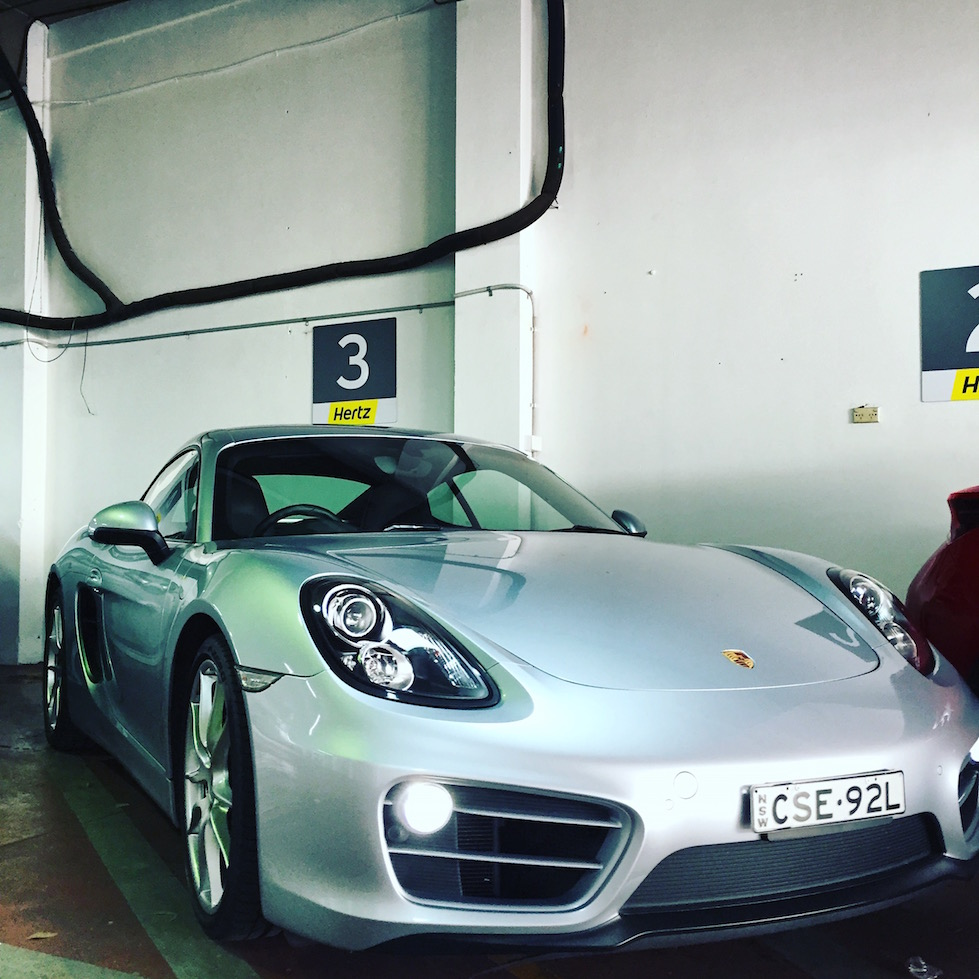 Hertz Porsche Cayman pickup photo